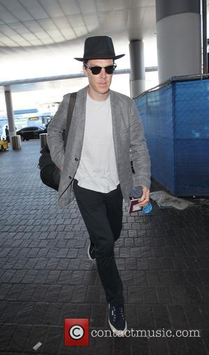 Benedict Cumberbatch departs LAX, LA, California, United States - Saturday 13th August 2016
