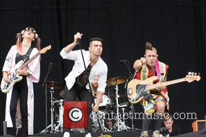 Joe Jonas and his band DNCE perform at the 2016 V Festival held at Weston Park, Staffordshire - Sunday 21st...