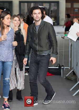 Poldark actor Aidan Turner pictured arriving at the Radio 1 studios at BBC Portland Place - London, United Kingdom -...