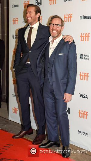 Armie Hammer & Elizabeth Chambers at the 2016 Toronto International Film Festival premiere of 'Free Fire' held at Ryerson Theatre...