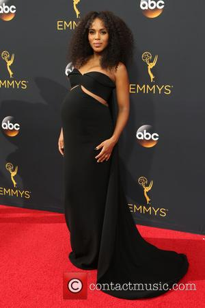 Kerry Washington seen on the red carpet at the 68th Annual Primetime Emmy Awards held at the Microsoft Theater Los...