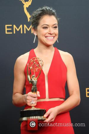Tatiana Maslany in the press room at the 68th Emmy Awards held at the Microsoft Theater, Los Angeles, California, United...