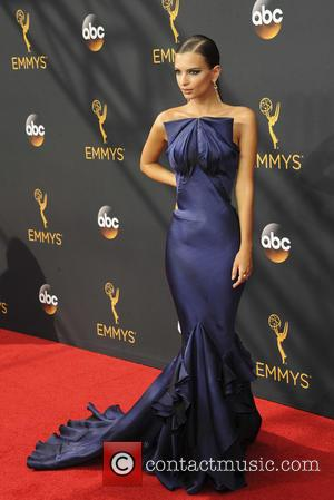 Emily Ratajkowski seen on the red carpet at the 68th Annual Primetime Emmy Awards held at the Microsoft Theater Los...