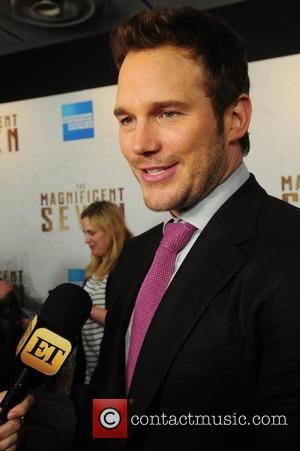 Chris Pratt attending the New York premiere of 'The Magnificent Seven' held at the Museum of Modern Art in New...
