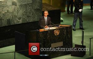 President Obama addresses the 71st session of the United Nations General Assembly at United Nations New York, United States -...