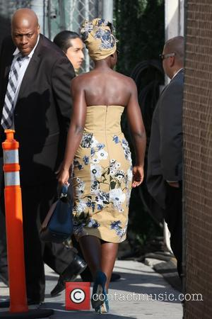Lupita Nyong'o seen at the ABC studios for Jimmy Kimmel Live! at Hollywood - Los Angeles, California, United States -...