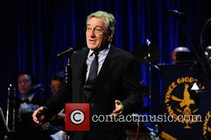 Robert De Niro talks to the audience at the Friars Club Gala who honoured the Icon Award to Martin Scorsese...