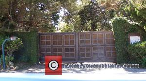 General view - The front gates of the $95,000-a-month Malibu mansion rented by Angelina Jolie in the wake of her...
