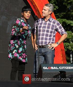 Tamron Hall and Andy Cohen