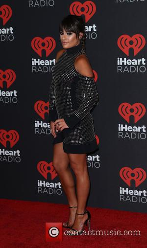 Lea Michele seen entering the iHeartRadio Music Festival held at T-Mobile Arena Las Vegas, Nevada, United States - Saturday 24th...