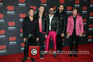 Backstreet Boys seen entering the 2016 iHeartMusic Festival on the second Night held at TMobile Arena in Las Vegas, Nevada,...