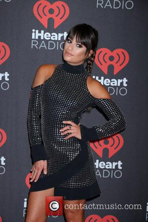 Lea Michele seen entering the 2016 iHeartMusic Festival on the second Night held at TMobile Arena in Las Vegas, Nevada,...