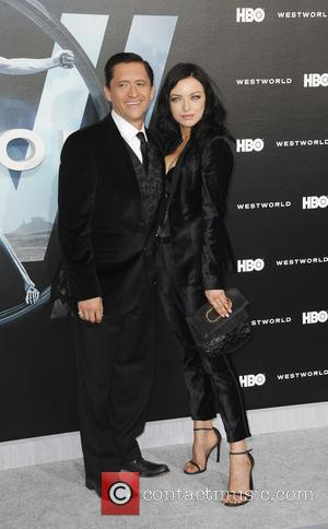 Clifton Collins Jr. and Francesco Eastwood at the premiere of the HBO drama series 'Westworld'  - Los Angeles, California,...