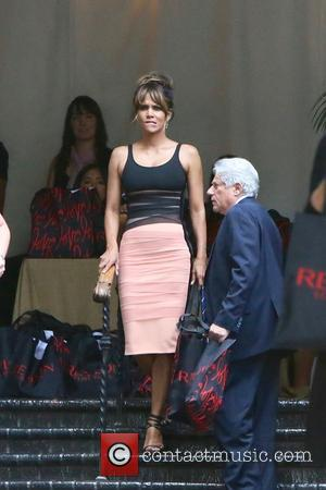 Halle Berry seen leaving Revlon's Annual Philanthropic Luncheon held at Chateau Marmont, West Hollywood, Los Angeles, California, United States -...