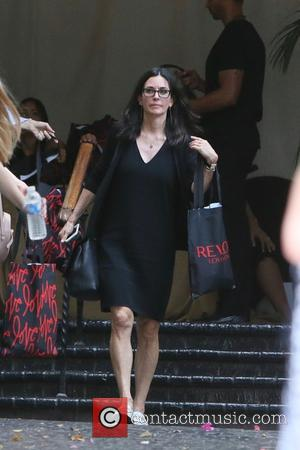 Courteney Cox seen leaving Revlon's Annual Philanthropic Luncheon held at Chateau Marmont, West Hollywood, Los Angeles, California, United States -...