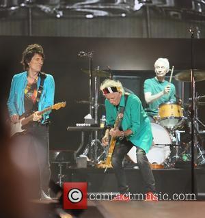 Keith Richards, Ronnie Wood and Charlie Watts