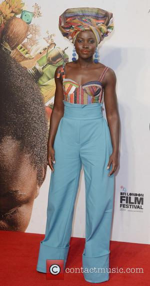 Lupita Nyong'o and David Oyelowo at the BFI London Film Festival premiere of their new movie Queen Of Katwe. London,...