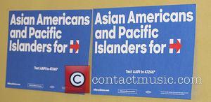 B D Wong and Hillary Clinton