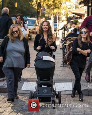 Chrissy Teigen out and about with her baby and a friend in New York City, United States - Friday 14th...