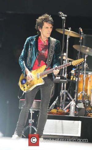 Ronnie Wood of The Rolling Stones performing on the first day of the second weekend of Desert Trip Festival -...
