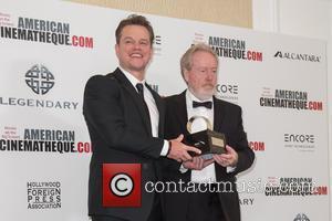 Matt Damon and Sir Ridley Scott