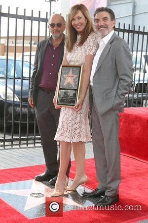 Richard Schiff, Allison Janney and Chuck Lorre
