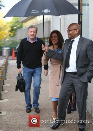 Susanna Reid and Piers Morgan seen leaving ITV Studios together - London, United Kingdom - Monday 17th October 2016