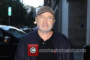 Phil Collins arrives at the BBC London studio headquarters for an appearance on 'The One Show' at BBC Langham Place,...