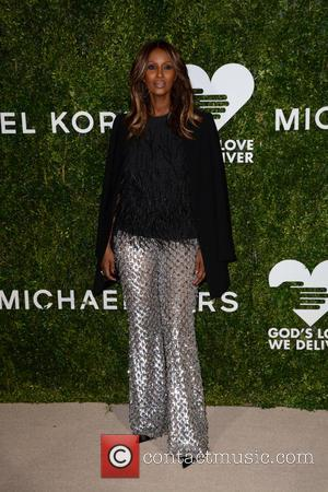 Iman arrives at the 2016 Golden Heart Awards Dinner held by the charity God's Love We Deliver held at Spring...