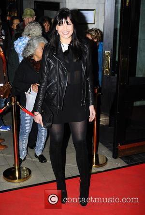Daisy Lowe and Aljaz Skorjanec attending the VIP opening night of dance company Burn the Floor's latest production 'Fire in...