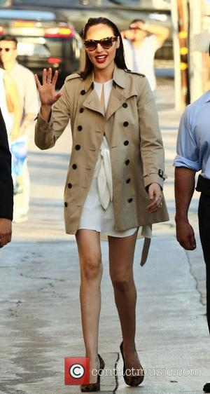 Actress Gal Gadot seen arriving at the ABC studios for a recording of Jimmy Kimmel Live. Gal's latest film 'Keeping...