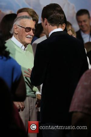 Stan Lee and Benedict Cumberbatch