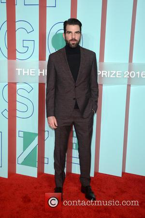 Zachary Quinto entering the Hugo Boss And Guggenheim Celebration of The 20th Anniversary Of The Hugo Boss Prize at held...