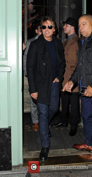 Tom Cruise on a night out leaving Sexy Fish restaurant and heading to Annabel's club, London, United Kingdom - Friday...