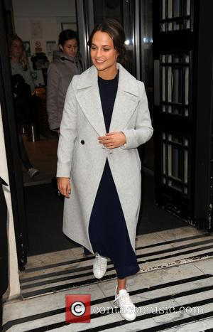 Star of The Light Between Oceans, Alicia Vikander leaves BBC Radio 2 Studios, London, United Kingdom - Friday 21st October...