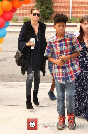 Heidi Klum and Lou Sulola Samuel at the Elizabeth Glaser Pediatric Aids Foundation 'A Time For Heroes' Family Festival held...