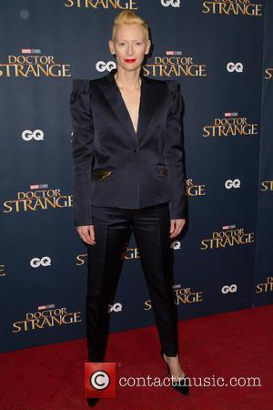 Tilda Swinton seen at the 'Doctor Strange' launch event held at The Cloisters, Westminster Abbey, London, United Kingdom - Monday...