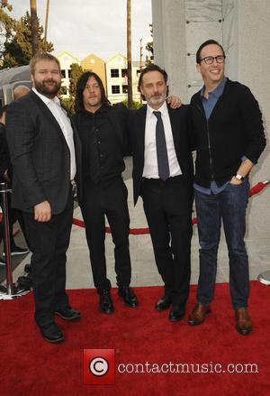 Robert Kirkman, Norman Reedus, Andrew Lincoln and Charlie Collier