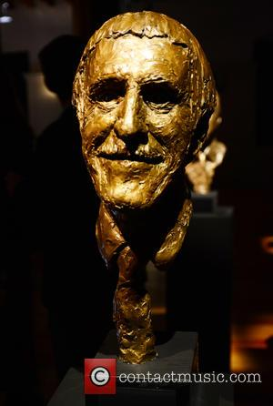 A sculpture of Sir Bruce Forsyth is one of the pieces at the Heads at the Tower A Retrospective exhibition...
