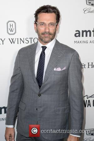 Jon Hamm and Kenneth Cole at the amfAR's Inspiration Gala Los Angeles held at Milk Studios, Los Angeles, California, United...