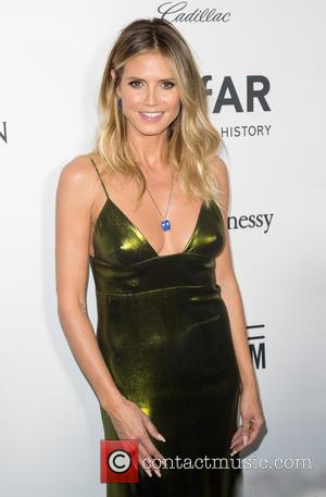 Heidi Klum and Kenneth Cole at the amfAR's Inspiration Gala Los Angeles held at Milk Studios, Los Angeles, California, United...