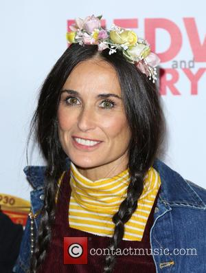 Demi Moore at the opening night of the musical 'Hedwig And The Angry Inch' held at the Pantages Theatre, Los...