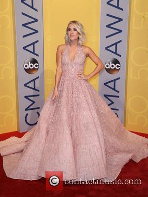 Carrie Underwood seen arriving at the 50th annual CMA (Country Music Association) Awards held at Music City Center in Nashville,...