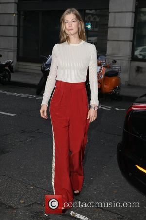Rosamund Pike seen outside BBC Radio 2 at BBC Western House, London, United Kingdom - Friday 4th November 2016