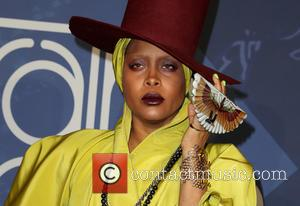 Erykah Badu seen on the red carpet at the 2016 Soul Train Awards held at The Orleans Arena in Las...