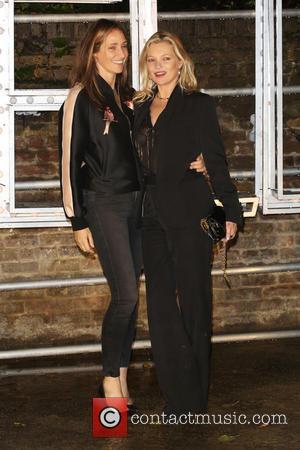 Rosemary Ferguson and Kate Moss