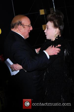 Clive Davis and Cindy Adams