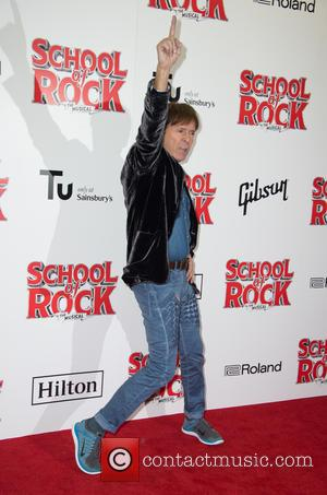 Sir Cliff Richard on the red carpet for the opening night of School of Rock held at New London Theatre...