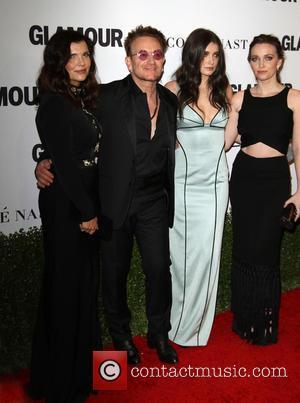 Bono, Wife Alison Hewson, Daughters Eve Hewson and Jordan Hewson