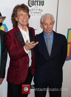 Mick Jagger and Charlie Watts